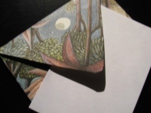 envelopes made from Where the Wild Thing Are book