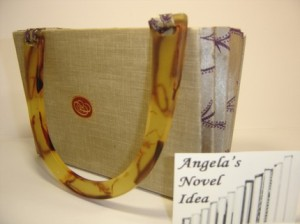 repurosed book handbag