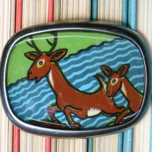 belt buckle made of a bookcover