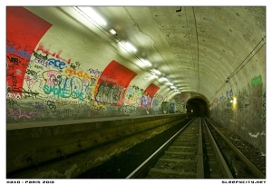 photo of an abandoned metro station in Paris