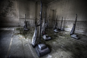 photo of vaccuum cleaners in abandoned hospital