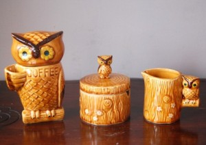 Owl coffee set