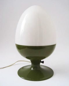 mid-century egg lamp