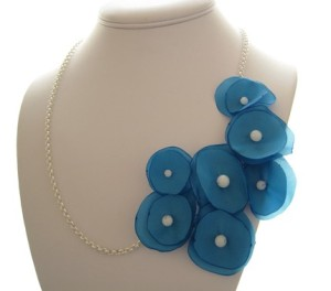 morning glory asymmetrical necklace