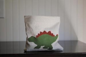 stegosaurus fabric snack bag